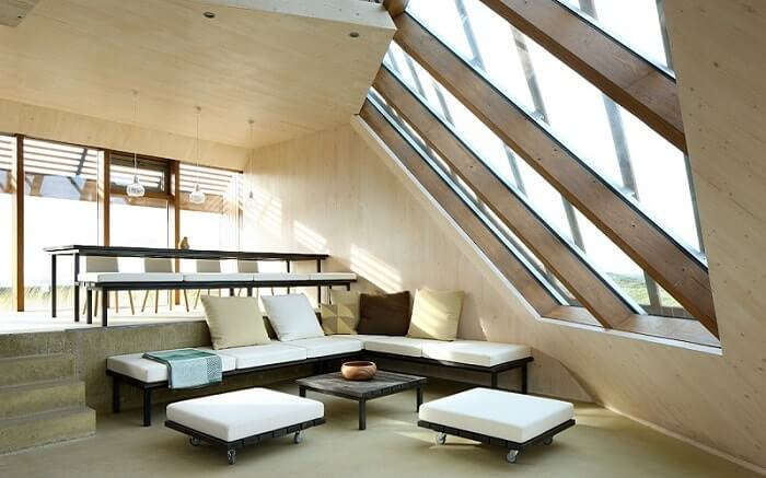 Wooden home interior CLT