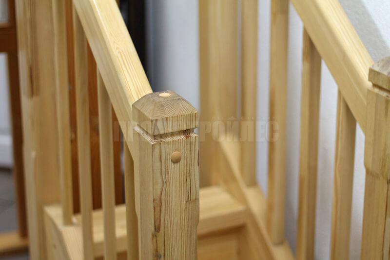 Sample wooden stairs