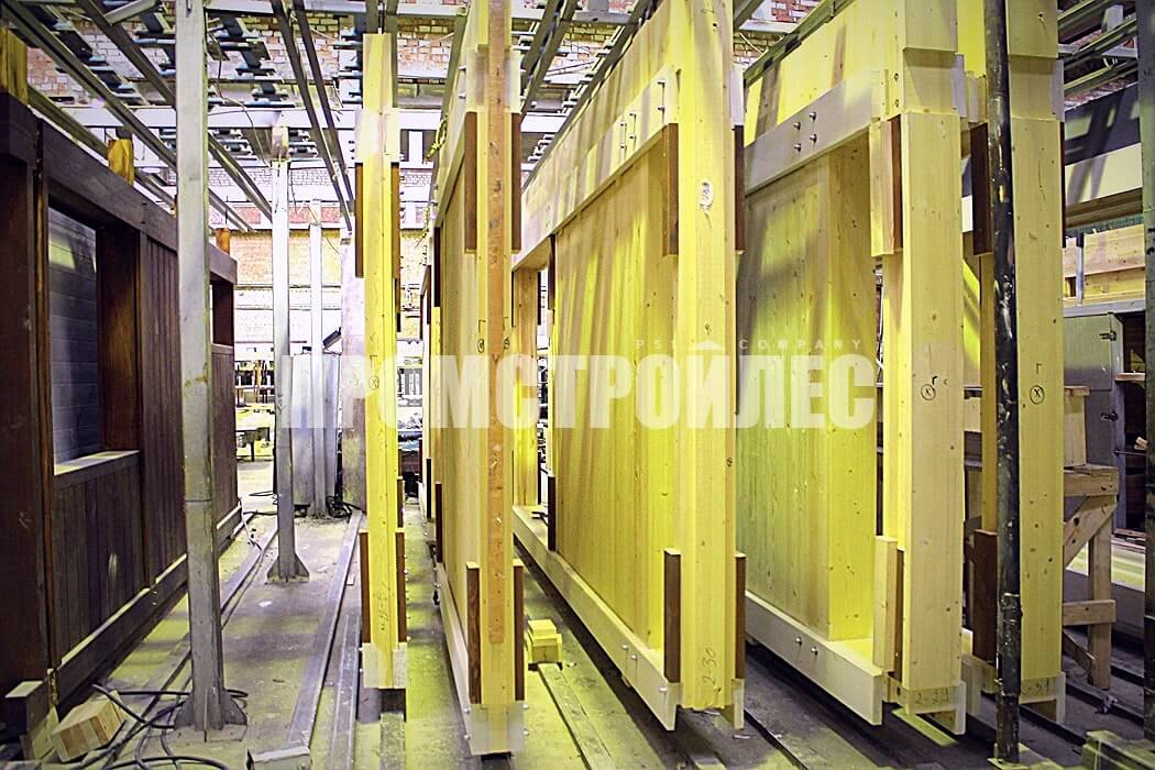 The production of fachwerk constructions «Promstroyles»