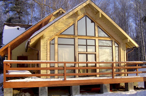 Frame-panel houses turnkey prices for projects and construction