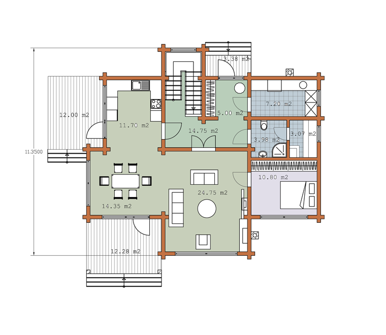 First floor plan «Project MS-218»