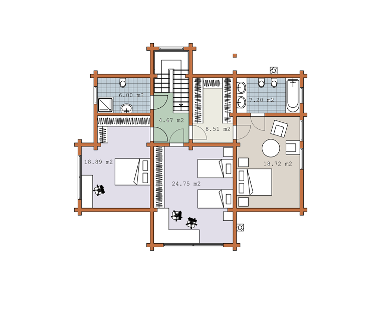 Second floor plan «Project MS-218»