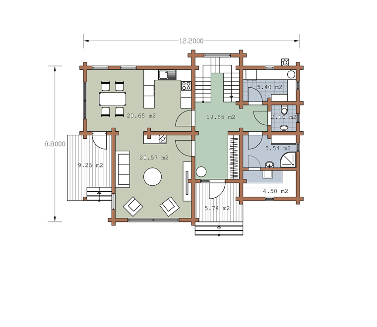 First floor plan «Project MS-175»