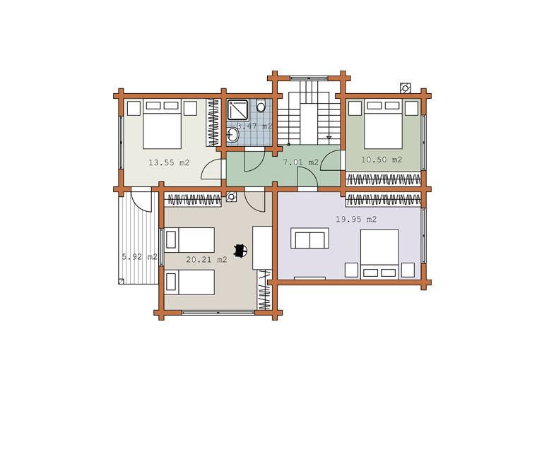 Second floor plan «Project MS-175»