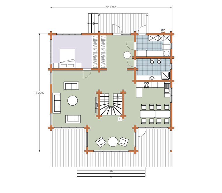 First floor plan «Project MS-267»