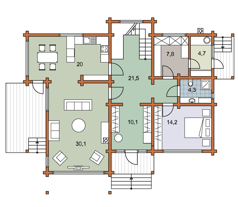 First floor plan «Project MS-248»