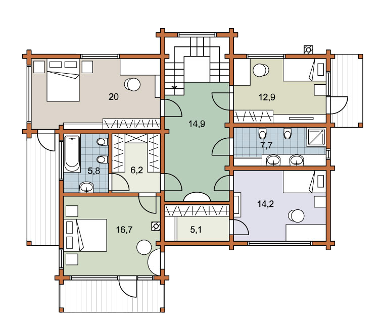 Second floor plan «Project MS-248»