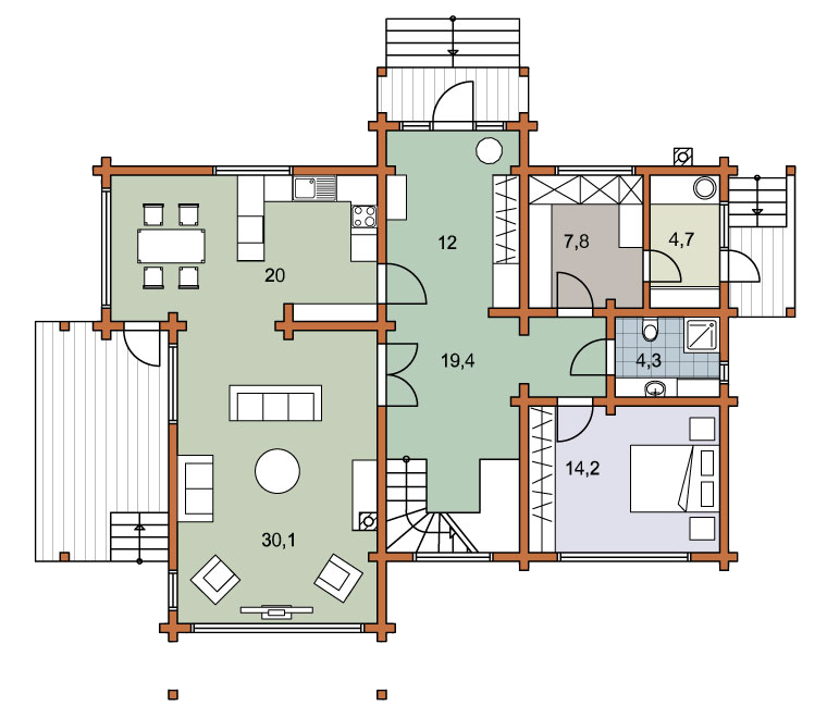 First floor plan «Project MS-250»