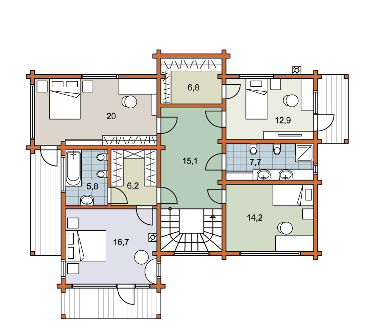 Second floor plan «Project MS-250»