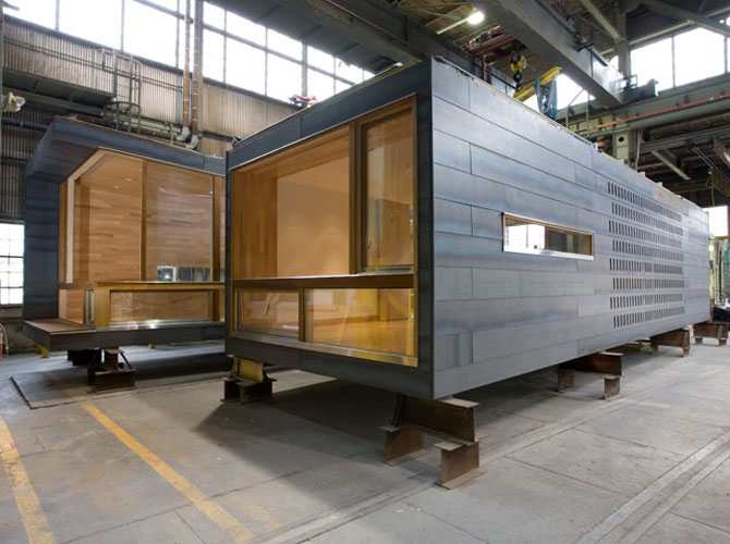 Block-containers for modular construction
